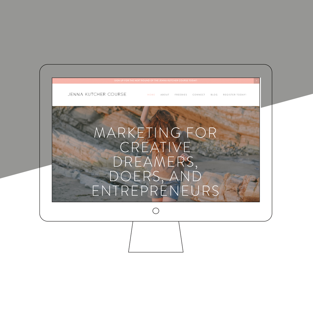 Jenna Kutcher Course Website Design by Chelcey Tate Studio www.chelceytate.com