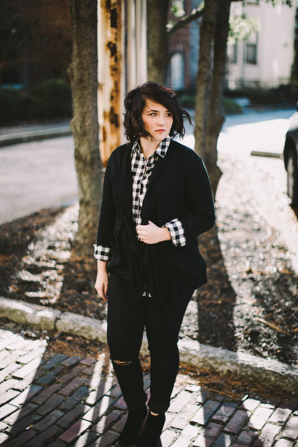 Black, White + Flannel via www.chelceytate.com