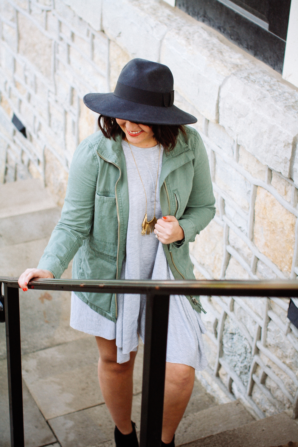 Gray T-Shirt Dress via www.chelceytate.com