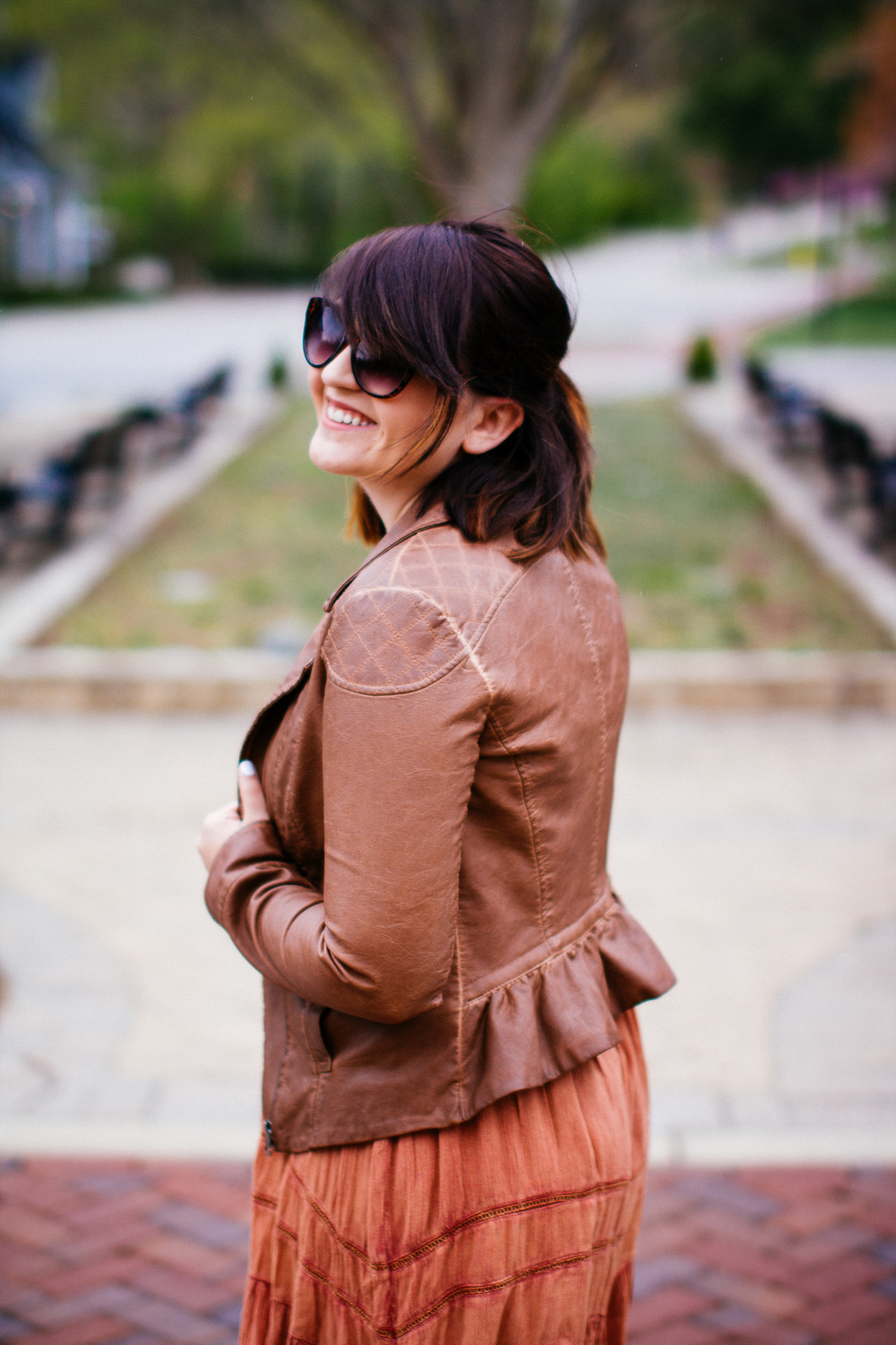 Ruffle Anthropologie Leather Jacket www.chelceytate.com