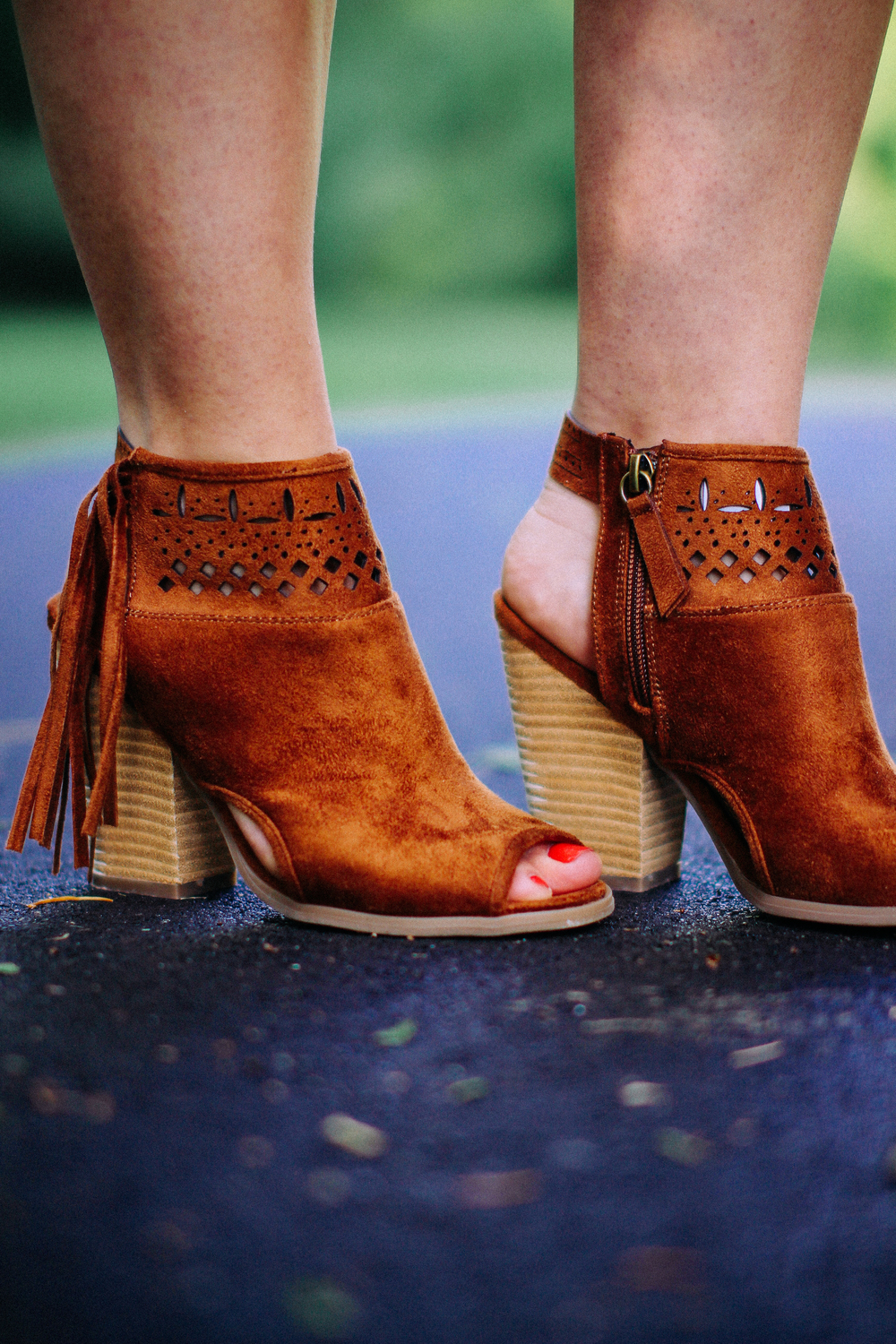Fringe Booties + Stripes via www.chelceytate.com