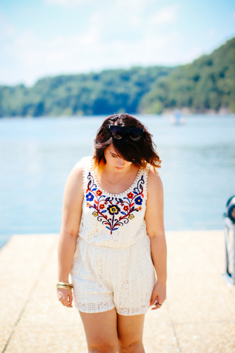 Little Lace Romper www.chelceytate.com @target @dswshoelovers @freepeople