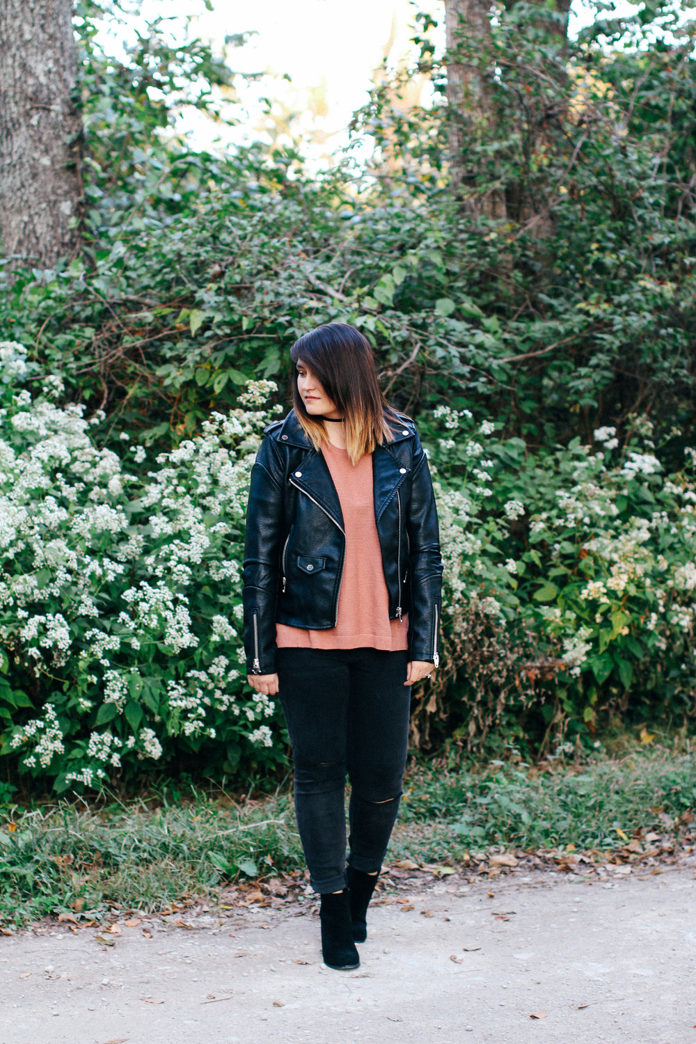 Leather + Blush ft @urbanoutfitters @nordstrom @madewell via chelceytate.com