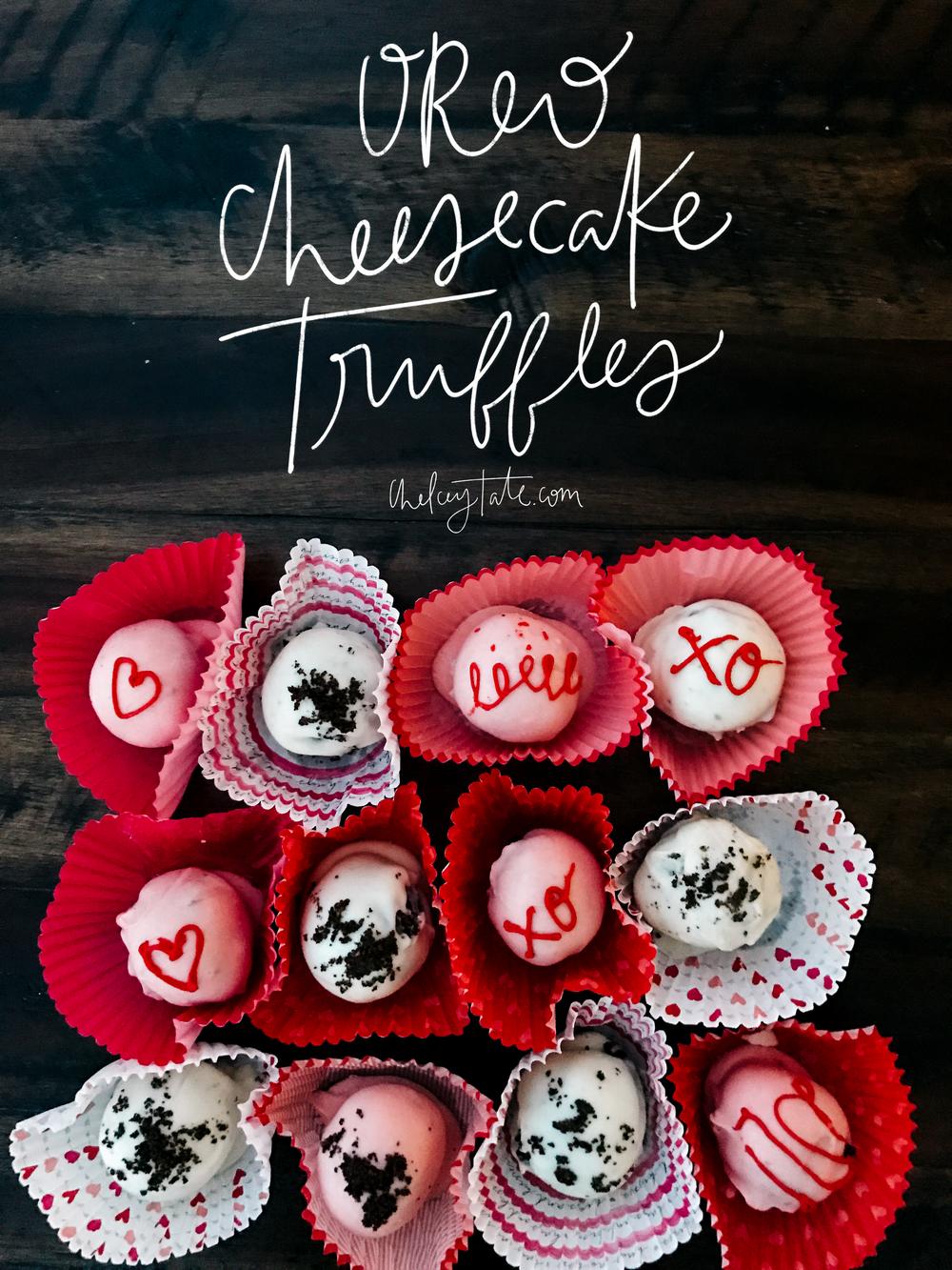 Oreo Cheesecake Truffles via chelceytate.com