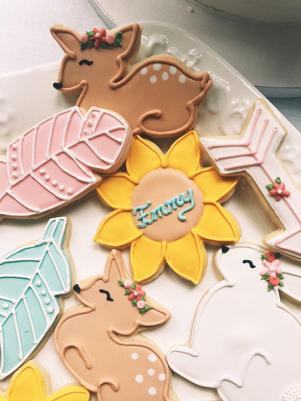 Boho Baby Shower: Celebrating Emmy via chelceytate.com