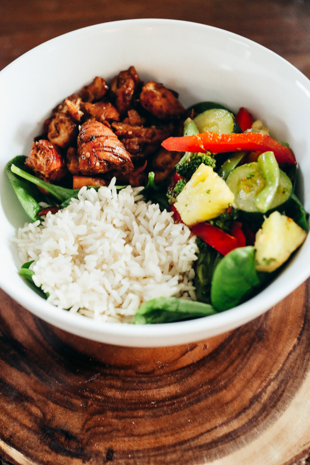 Teriyaki Chicken Bowl Recipe via Chelcey Tate www.chelceytate.com
