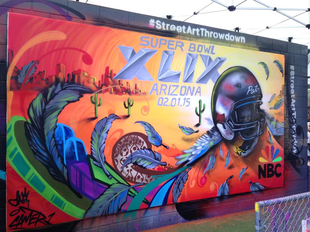 Super Bowl Mural