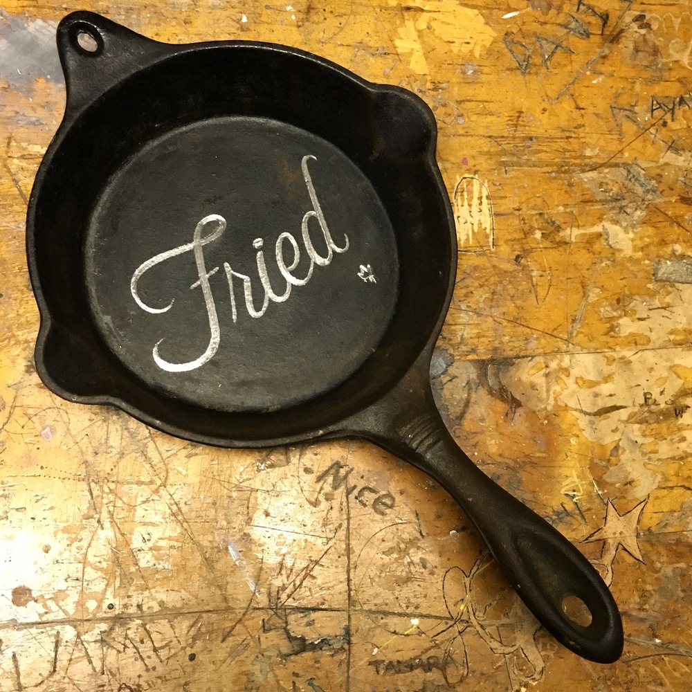 Carved frying pan