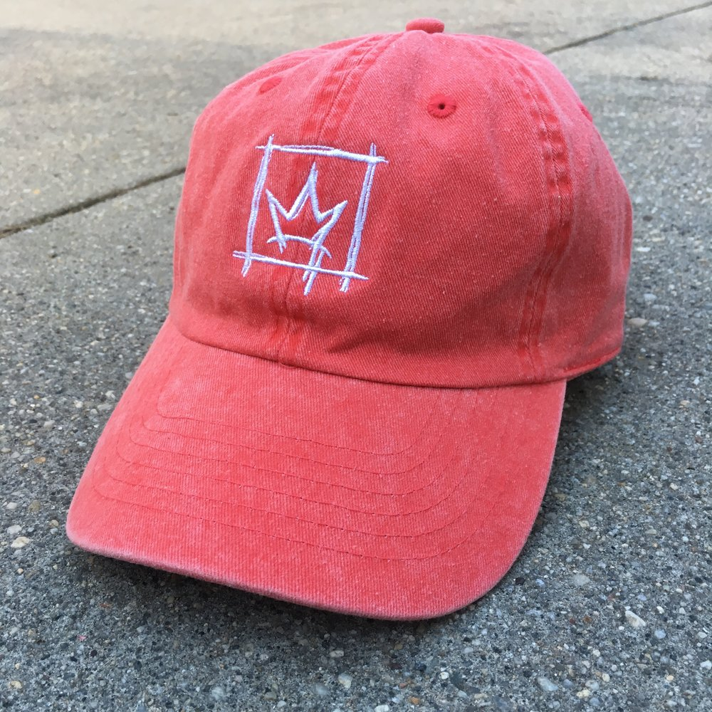 White on Red Dad Hat — Jenna Morello a75e54b8bae