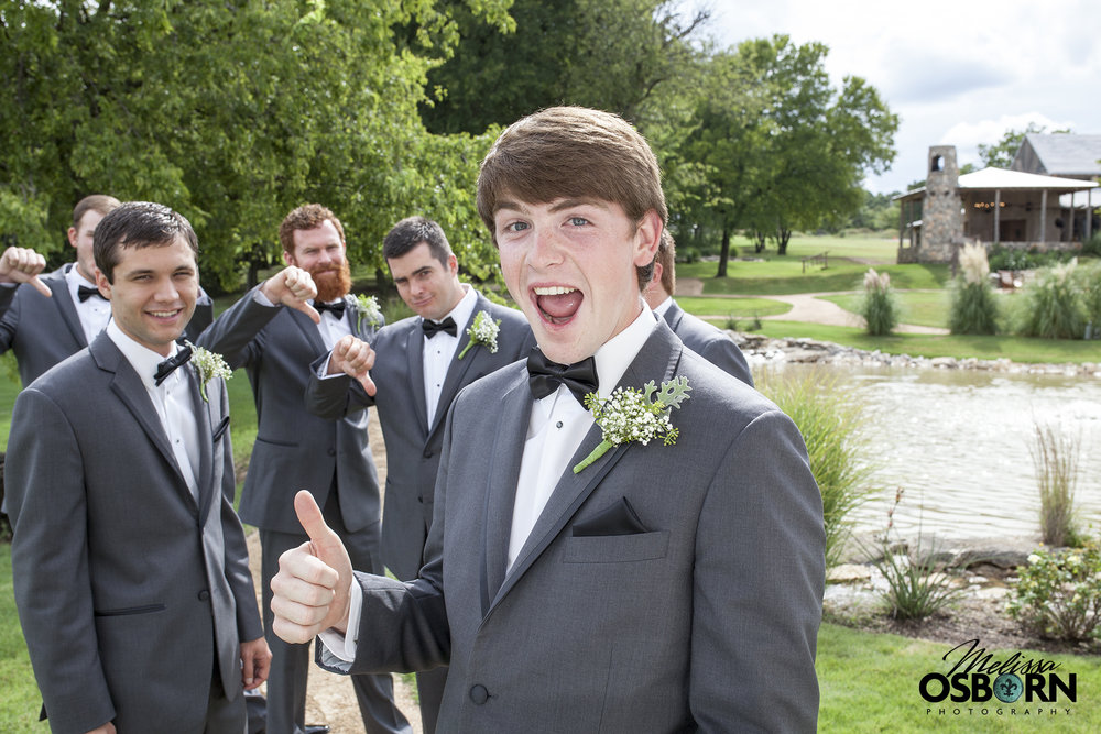 Silly groomsmen!