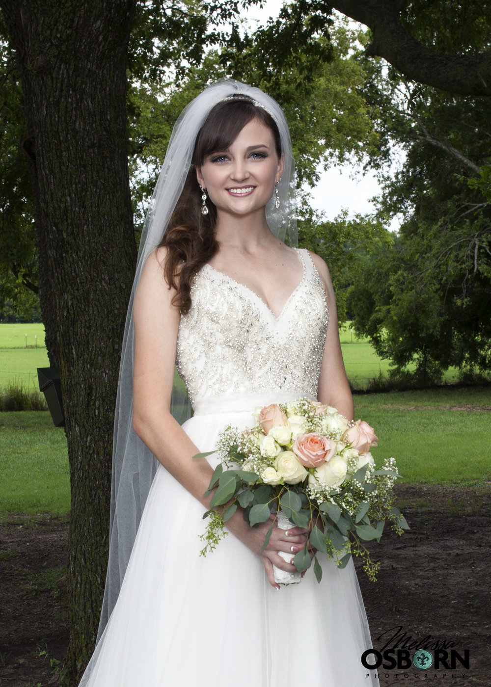 A stunning bride.