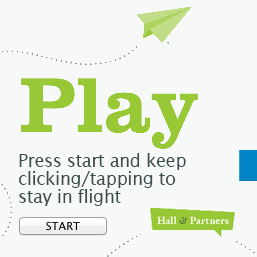 It's game time! Try your hand at our addictively fun game and see how long you can stay in flight