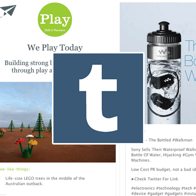 Check out our Playful Tumblr Page We're reblogging some great examples of brands and people at play