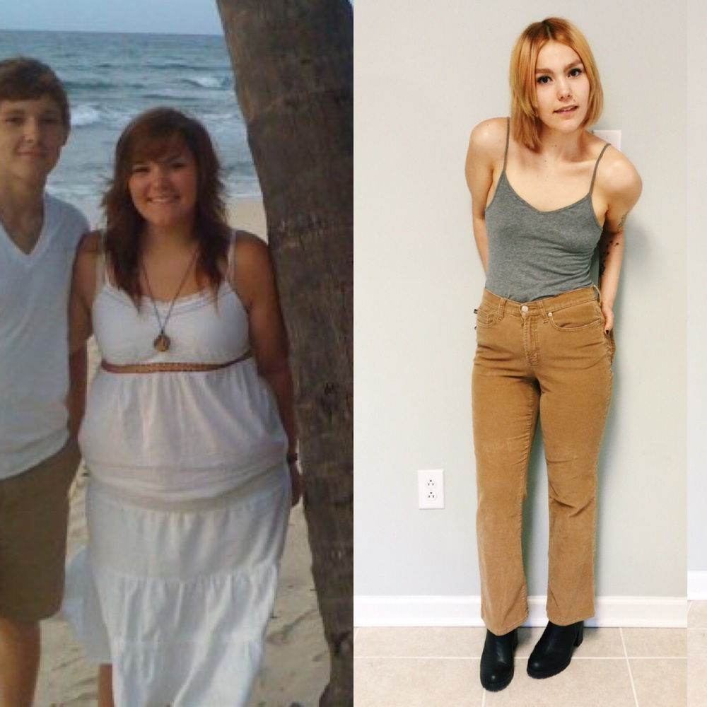Me at fifteen vs me now! You can't tell by the photos, but I was struggling with food because of a combination of hormonal and medical predispositions and emotional eating. Now, I live a balanced lifestyle and take care of my body with organic and plant-based foods, finding that I've thrived with them!