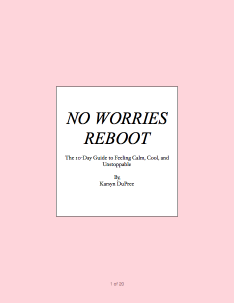 NO WORRIES REBOOT
