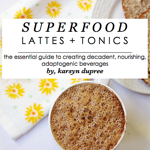 Superfood Lattes + tonics ebook