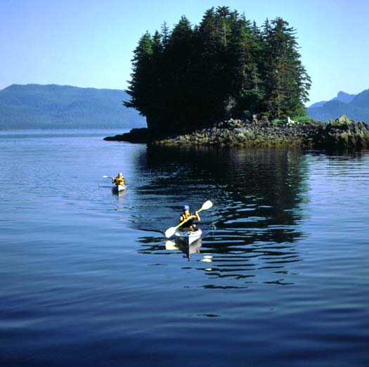 Kayaking among the islets and inlets of the Inside Passage. (Wes Walker)