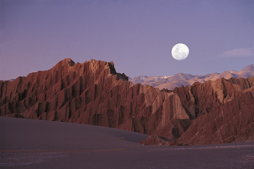 The surreal landscape of the Atacama
