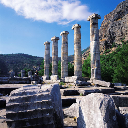 Luxury Turkey Tour: Temple of Athena at Priene (Wes Walker)