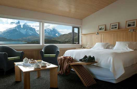 Luxury accommodations at Explora Patagonia Lodge