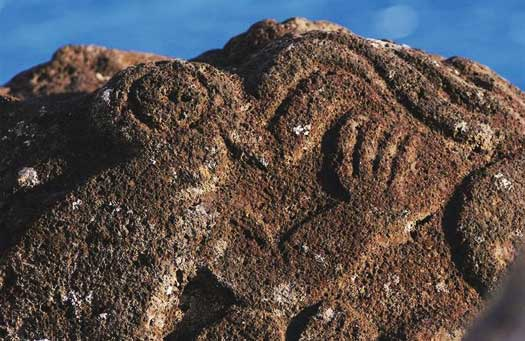 Rapa Nui carvings (photo:Explora)