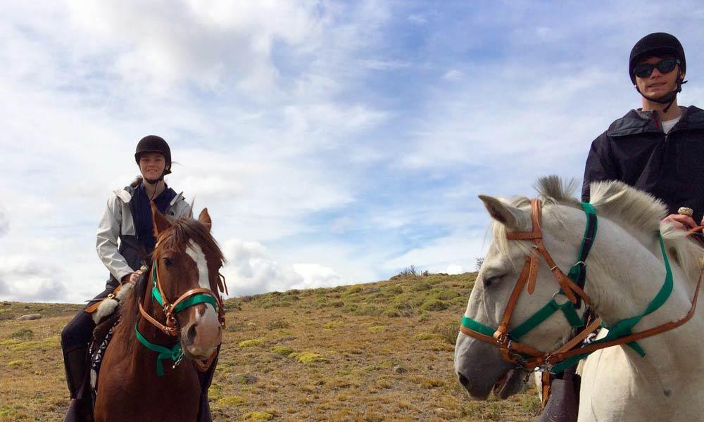 On horseback in Patagonia
