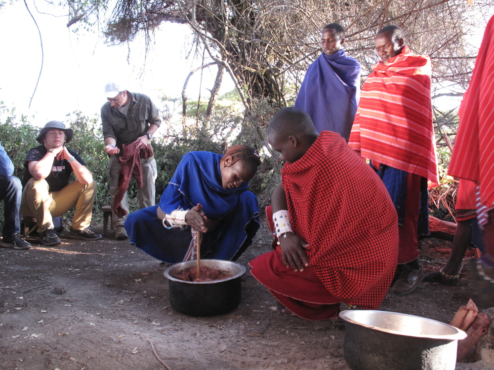Participating in Masai ceremonies
