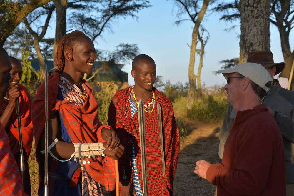 Finding common ground with Masai warriors