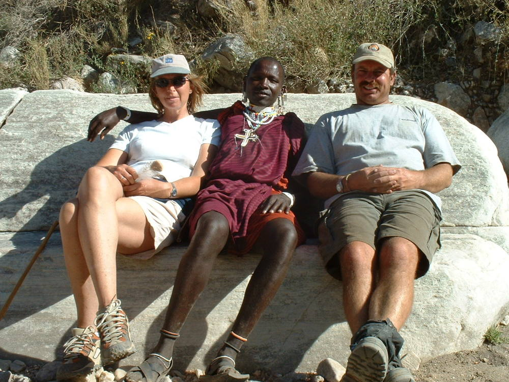 A rest break with your Masai guide
