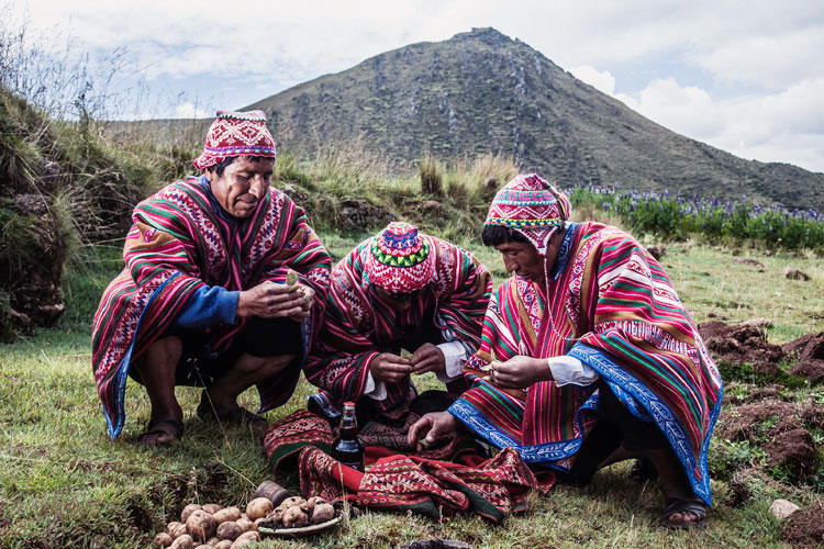 Andean farmers in the remote village of Viacha