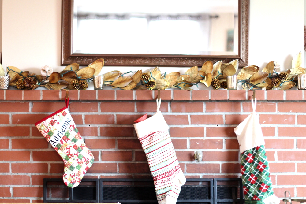 Ready for Santa! We have more hand-stitched stockings (like the one on the left) coming next year via our very talented aunt!