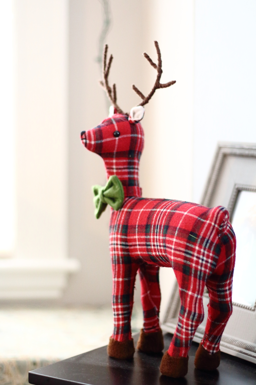 How cute (and festive) is this little guy?! A plaid reindeer with a green bow tie! Don't hesitate from buying those seemingly unnecessary decorations you stumble upon!