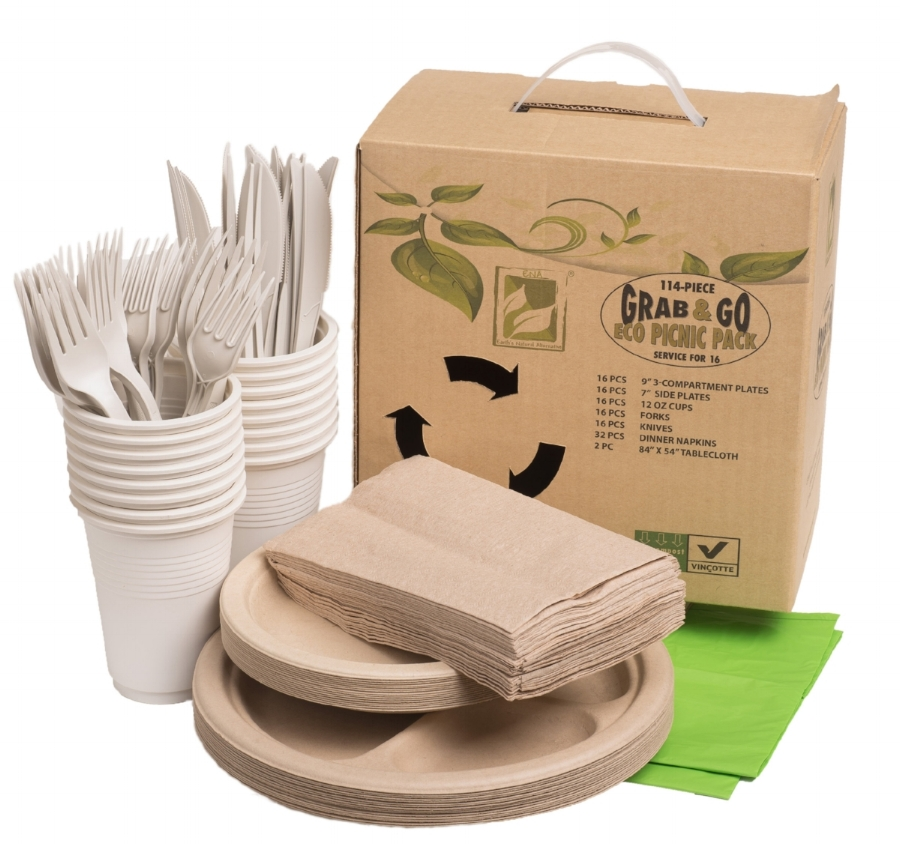 BRAND NEW--GRAB & GO ECO PICNIC PACK