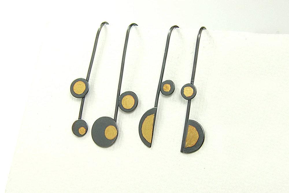 Earrings HBM069, Style E & F.