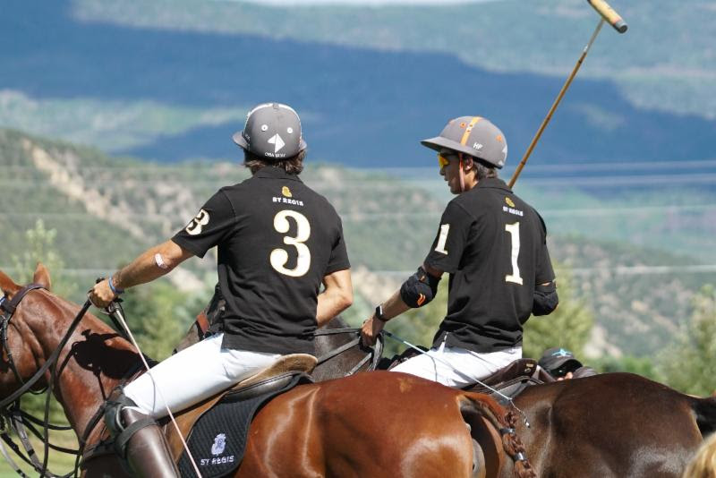 A little fatherly advice from Nacho Figueras to son Hilario.