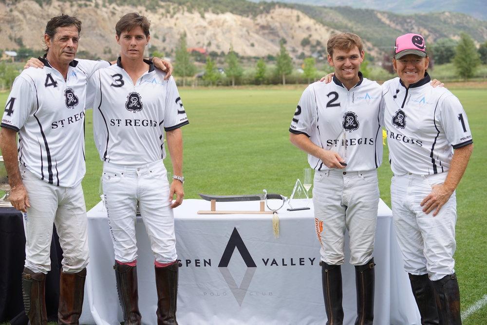 St. Regis White winning team Juan and Juancito Bollini and Grant and Marc Ganzi.