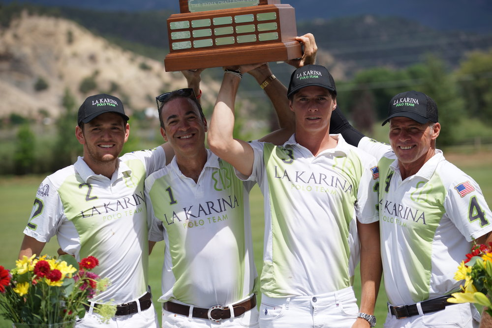 La Karina winning teammates Grant Ganzi, Brian Boyd, Juancito Bollini and MVP Mike Azzaro.