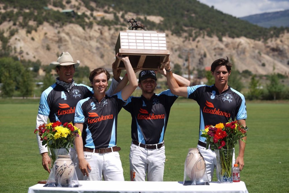 Casablanca winning teammates Stewart Armstrong, Tony Calle, Grant Ganzi and Juancito Bollini.