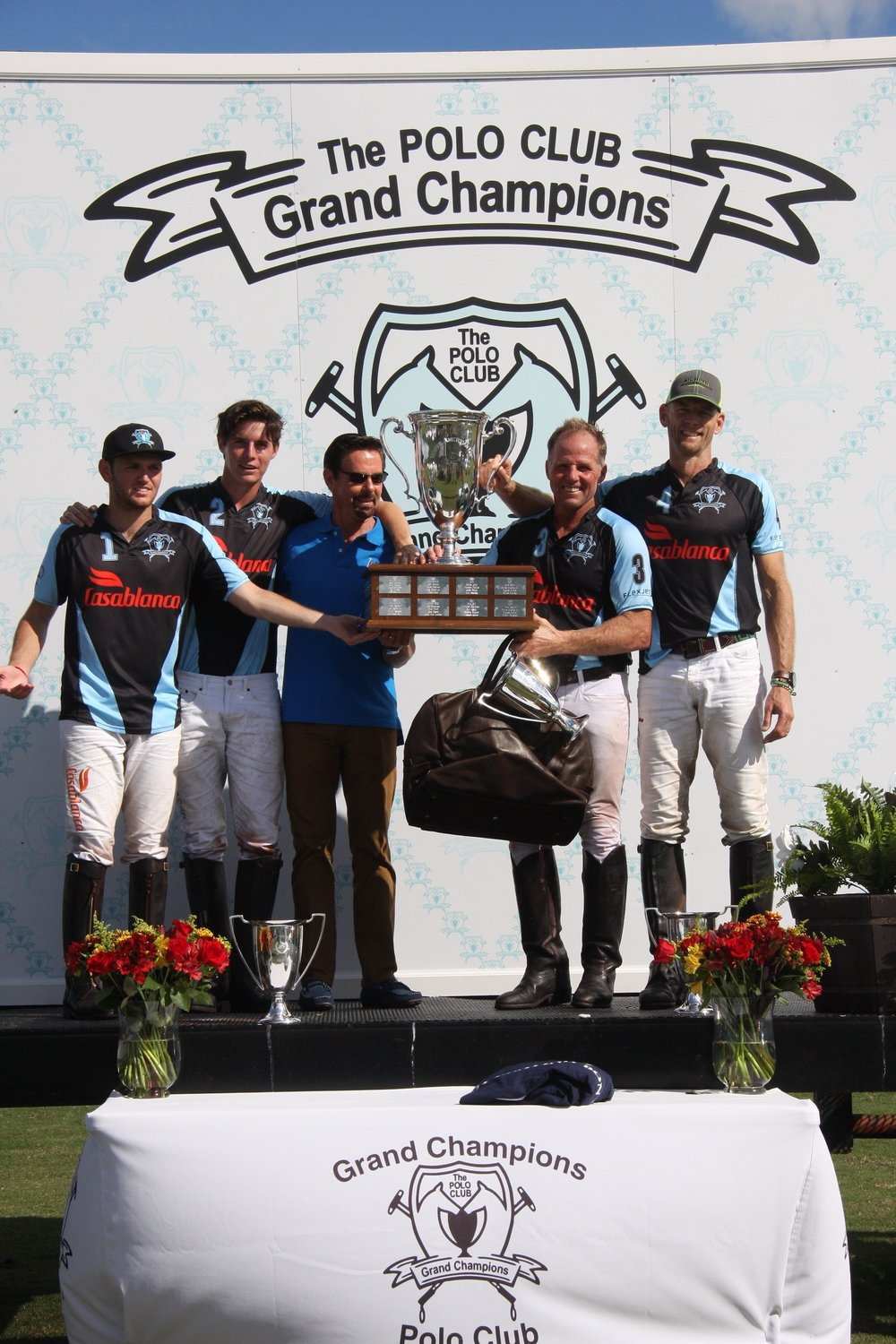 Winning Casablanca team with awards presenter USPA CEO Bob Puetz.