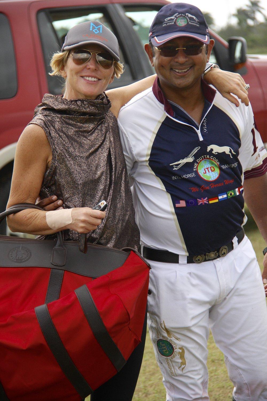 Susie Dutta congratulates husband .JPG