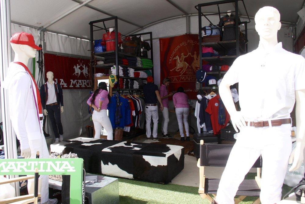 Fans shopping at the La Martina .JPG