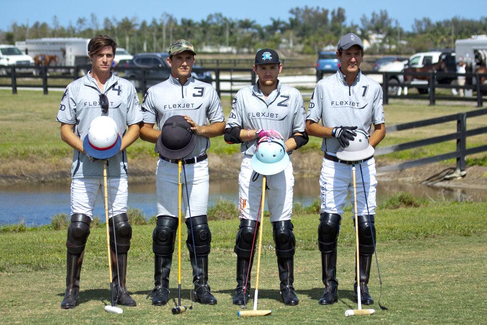 Grand Champions teammates Juancito Bollini, Matt Coppola, Grant Ganzi and Bauti Panelo.