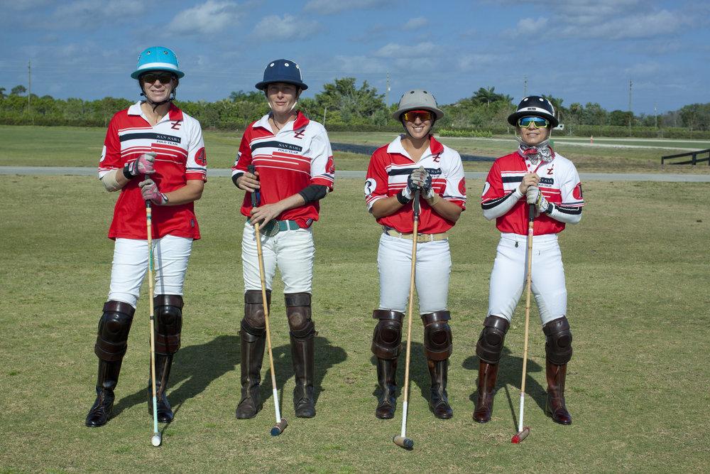 Championship team San Saba's Clarissa Echezarreta, Catharine Roze, Alyson Poor and Dawn Jones.