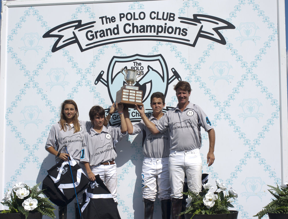 Halo Polo Trophy 6-Goal champions Team Kampsen Mia Cambiaso, Poroto Cambiaso, Keko Magrini and Nick Manifold.