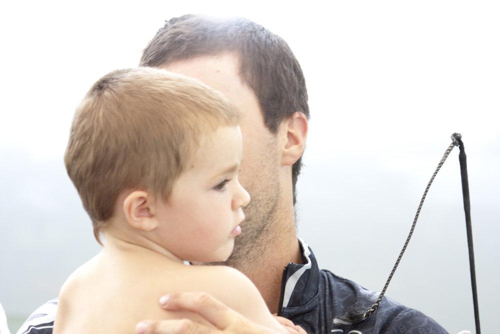 Nice going dad, Felix Pieres congratulates Nico Piere.JPG