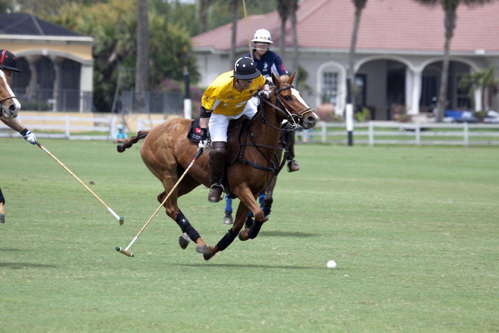 Sam Ramirez of Mellow Yellow avoids a hook wit.JPG