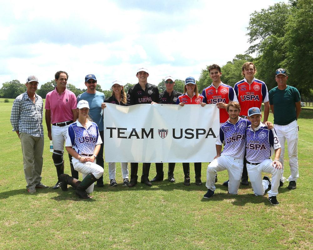 Newest Team USPA members with Adam Snow, Carlucho Arellano, Bob Puetz and Owen Rinehart.