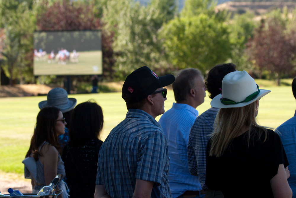 Fans enjoy the new Jumbotron at Aspen Valley Polo Club. .JPG