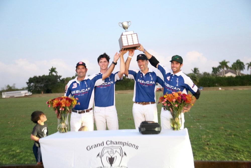 US Trust champion Sebucan's MVP Whistle Uys, Juancito Bollini, Pablo Pulido and Carlitos Gracida. Photo by Sheryel Aschfort