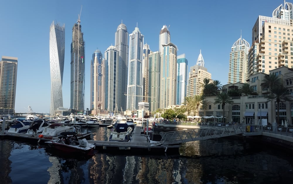 Dubai Marina and river walk